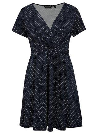 Rochie albastru inchis cu buline Dorothy Perkins Curve