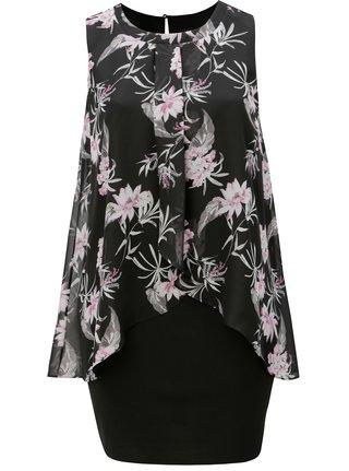 Černé šaty bez rukávů M&Co