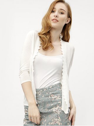 Krémový dámský kardigan s krajkou M&Co