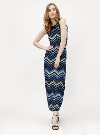 Rochie maxi albastru inchis cu model M&Co