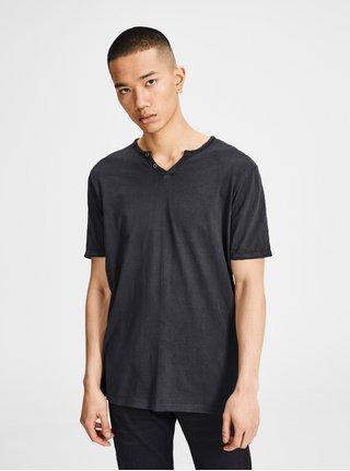 Tricou negru Jack & Jones Premium Benjamin