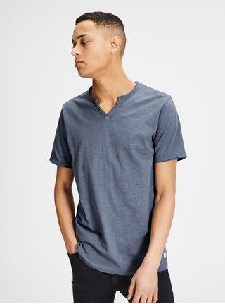 Modré melírované tričko Jack & Jones Premium Benjamin