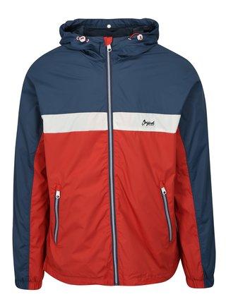 Modro-červená tenká bunda Jack & Jones Self