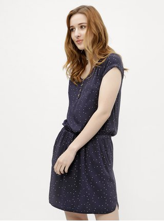 Tmavě modré dámské puntíkované šaty Ragwear Danila