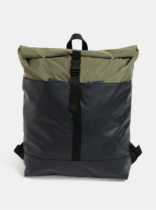 Zeleno-čierny vodovzdorný batoh Enter Research Roll Top 17 l