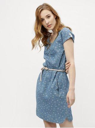 Modré dámske vzorované šaty  Ragwear Geena