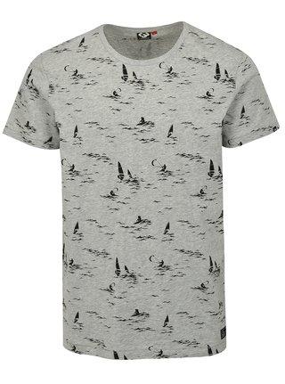 Svetlosivé pánske tričko s potlačou Ragwear Dami