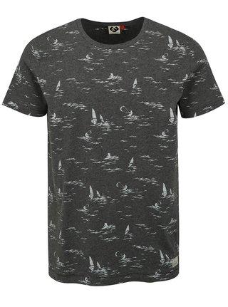 Tmavě šedé pánské tričko s potiskem Ragwear Dami