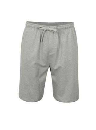 Pantaloni barbatesti scurti gri melanj M&Co