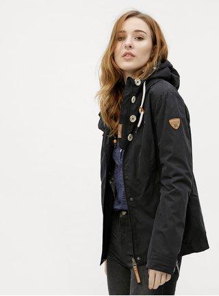Čierna dámska bunda s kapucňou Ragwear Lynx