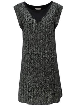 0ef6b2579013 Sivo-čierne voľné vzorované šaty SKFK Geretz