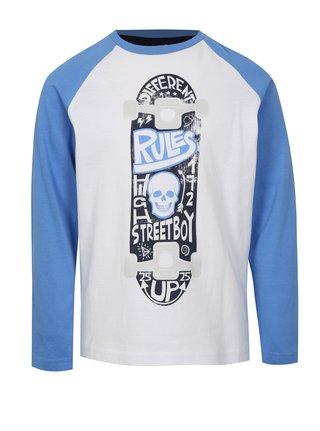 Modro-bílé klučičí tričko s motivem skateboardu Mix´n Match