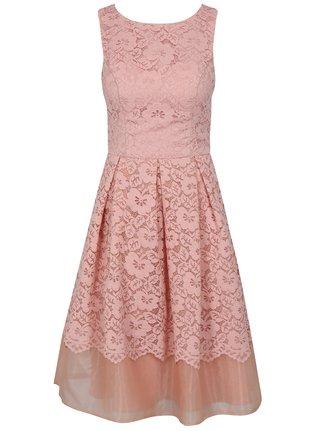 Rochie roz din dantela Chi Chi London Maniel