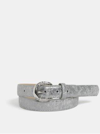 Curea argintie din piele sintetica Pieces Mae