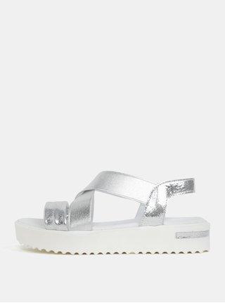 Sandale argintii cu platforma Tamaris