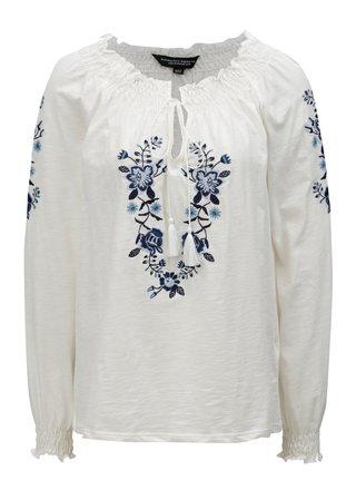 Krémové tričko s dlhým rukávom Dorothy Perkins