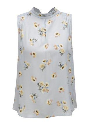 Bluza albastru deschis cu model floral Dorothy Perkins Petite