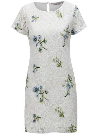 Bílé květované krajkové šaty Dorothy Perkins Petite