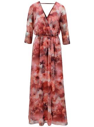 Rochie maxi rosie cu decolteu la spate Dorothy Perkins