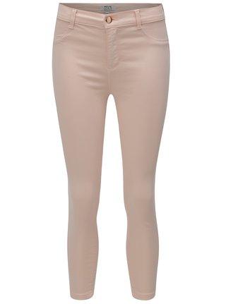 Blugi roz deschis slim crop din denim Dorothy Perkins Petite Frankie