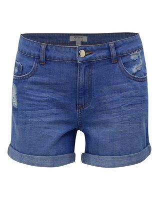 Pantaloni scurti albastri din denim cu aspect uzat Dorothy Perkins