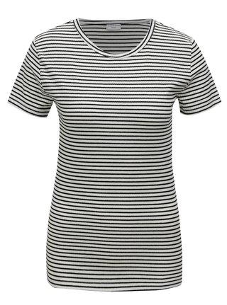 Černo-bílé pruhované basic tričko Jacqueline de Yong Christine