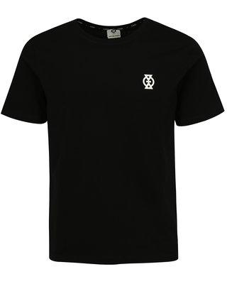 Čierne pánske tričko s potlačou Jack & Jones Glandale