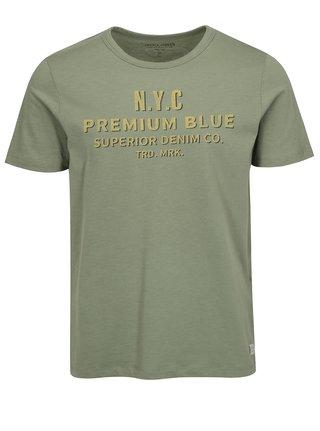 Zelené tričko s potiskem Jack & Jones Joe