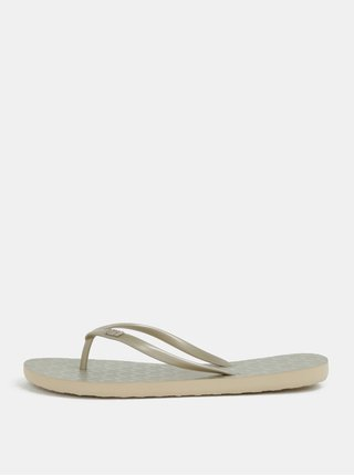 Papuci de dama flip-flop aurii Roxy Viva