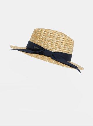 Světle hnědý dámský klobouk s modrou stuhou Roxy Dre Like