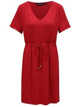 Červené šaty so sťahovaním v páse Dorothy Perkins