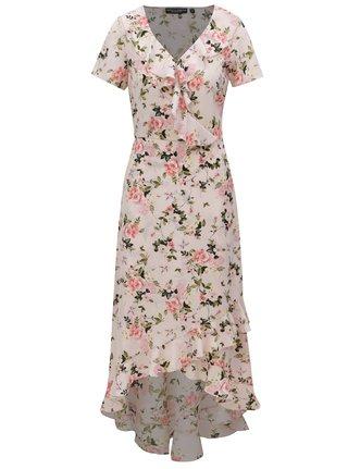 Svetloružové kvetované maxišaty Dorothy Perkins