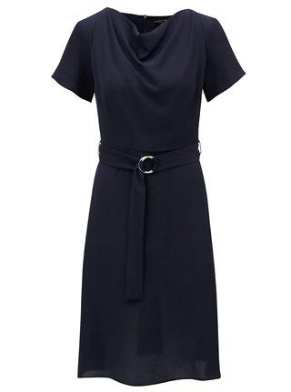 Tmavomodré šaty s opaskom Dorothy Perkins