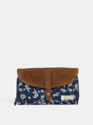Modro-hnedá vzorovaná peňaženka Roxy Carribean