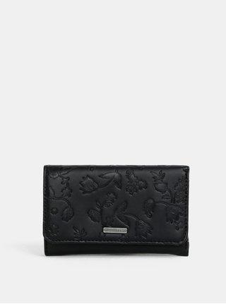 Čierna peňaženka s jemným vzorom Roxy Juno