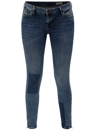 Blugi de dama albastri super skinny crop din denim - Cross Jeans
