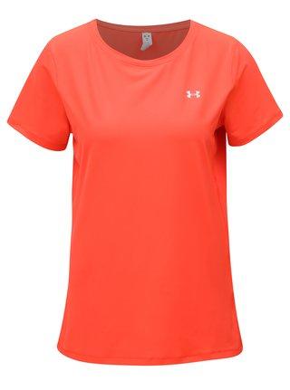Neónovo oranžové dámske funkčné tričko Under Armour HG Armour SS