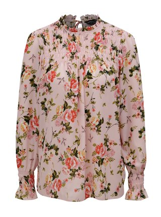 Bluza roz cu model floral Dorothy Perkins