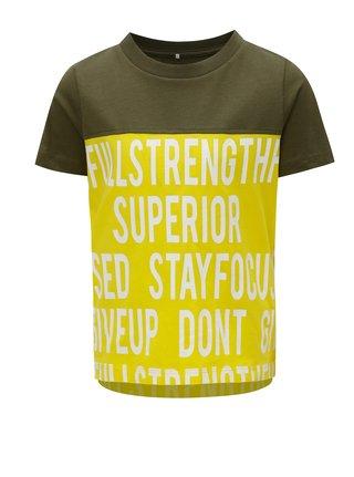 Zeleno-žluté klučičí tričko s potiskem name it Jacks