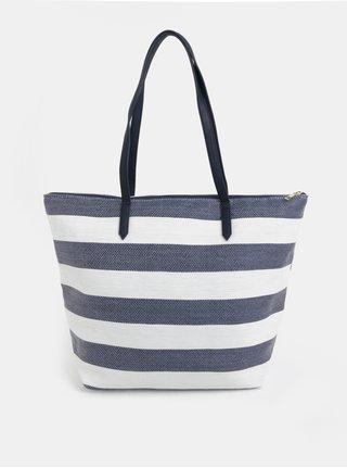 Geanta shopper alb-albastru in dungi Dorothy Perkins