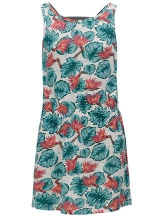 Krémové holčičí vzorované šaty Roxy Fearless