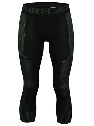 Leggings barbatesti functionali negru-verde Under Armour Threadborne