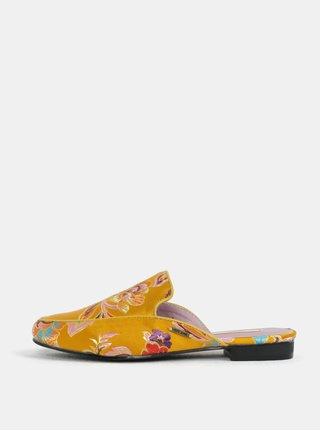 Oranžové dámske šľapky s výšivkou kvetín Pepe Jeans Klimpt art f758371776