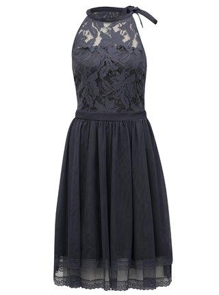 Modrošedé šaty s krajkovým topem VILA Zinna 9e679e2972