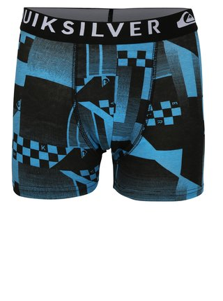 Súprava dvoch chlapčenských boxeriek v modrej a sivej farbe Quiksilver