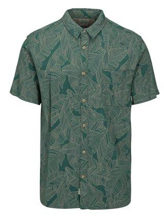 Zelená pánska vzorovaná modern fit košeľa Quiksilver