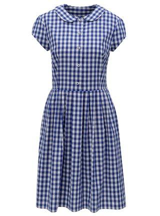 Tmavě modré kostkované košilové šaty Bohemian Tailors Eldora