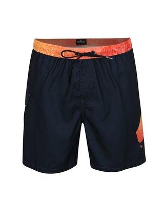 Pantaloni scurti de baie oranj-albastru cu print Quiksilver