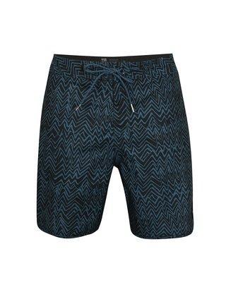 Pantaloni scurti de baie albastru inchis cu model Quiksilver