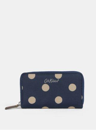 Tmavě modrá puntíkovaná peněženka Cath Kidston